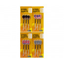 Sports Active 3 darts 15 grams on card 2 assorted