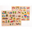 Wooden button puzzle 2 assorted 45x35 cm