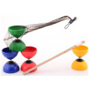 Outdoor Fun Diabolo with wooden sticks 4 assorted
