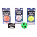 Throw and catch ball with wristband 4 assorted 9.5