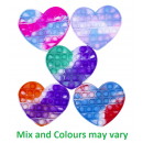 Magic Pop Game Tie Dye Heart assorted 11x14x1.5cm
