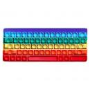 Magic Pop Game Rainbow Keyboard 11x27cm