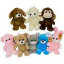 hurtownia Zabawki pluszowe & lalki: Pluszowe zwierzęta różne 18 cm