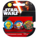wholesale Licensed Products: Star Wars bracelet with 3 replaceable Charms Pop 3