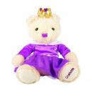 Suki Plush Bear Charlotte with purple dress 26cm