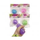 grossiste Autre: Glitter Slime Ball 4 assorties 6 cm