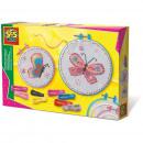 SES Embroidery set Butterflies 20x30cm