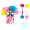 grossiste Stylos et crayons: Stylo Cubiesquad Chrystal Fluffy assorti
