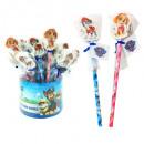 grossiste Cadeaux et papeterie: Crayon Paw Patrol avec gomme assorti dans une boît
