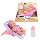 Baby doll 18cm in baby carrier
