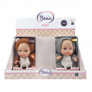 wholesale Dolls &Plush: BEAU Baby doll 23cm in bear suit with sound 3 asso