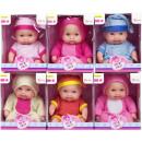 CUTE BABY Baby doll 14cm con cuffia 6 assortiti