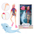 LAUREN Teenage doll 29cm diver with glitter dolphi