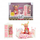 LAUREN Teenage doll 12cm with bed, closet and clot