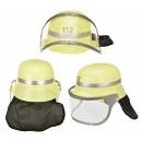 Firefighter helmet with visor