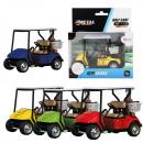 METAL Golfkar pull back 4 assorti