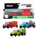METAL Die-Cast Jeep pull back + landbouwaanhanger