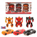 wholesale Toys: Change robot into racing car 3 pcs