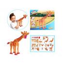 3D Foam Blocks Puzzel Constructiefoam Giraffe 104p