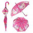 grossiste Bagages et articles de voyage: Parapluie avec licornes Ø80cm Automatique