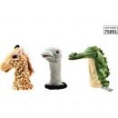 Plush Hand puppet animal 3 assorted 40cm