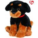 TY Plush Rottweiler with Glitter eyes Brutus 33cm
