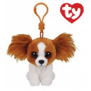 groothandel Stationery & Gifts: TY Pluche Hond Barks Bagclip 10cm