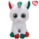 TY Plush Unicorn with Glitter eyes Candy Cane 42c