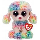 TY Pluche Poedel gekleurd met Glitter ogen Rainbow