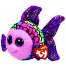 TY Pluche Vis gekleurd met Glitter ogen Flippy 15c