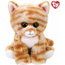 TY Peluche Cat Mackerel con occhi glitter Cleo 15c