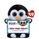 TY Pluche Tablethouder Pinguin met Glitter ogen Pe
