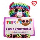 TY Pluche Tablethouder Luipaard met Glitter ogen L