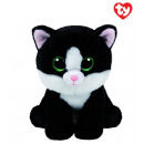 TY Plush Cat Black White Ava 33cm