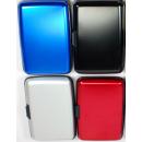 groothandel Telefoonhoesjes & accessoires: Aluminium wallet glad rood