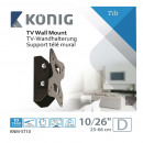 Konig KNM-ST10 - Rotule support mural - 10 t / m 2