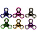 Hand Spinner,  Fingerkreisel metallic look