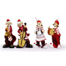 wholesale Music Instruments: Clown made of poly with musical instruments, 17 cm
