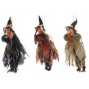wholesale Decoration: Witch made of poly flying 17x18x48cm