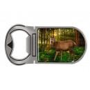 Metal magnet bottle opener deer, 4x9cm