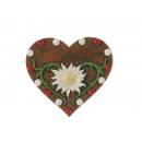 nagyker Otthon és dekoráció: Szívmágnes edelweiss-szel, alpesi vörös / ...