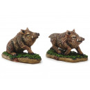 Wild boar made of poly, 10 cm