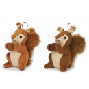 Squirrel made of plush, 15 cm