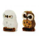 wholesale Home & Living: Decoration owl with artificial fur, 11cm