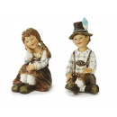 Pair of costumes, made of poly, 9 cm