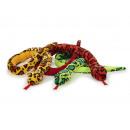 Großhandel Puppen & Plüsch: Schlange aus Plüsch 170x11x7cm