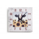 Wooden wall clock, 30 x 30 cm