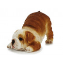 Bulldogge made of poly, 18 cm