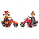 wholesale Toys: Clown made of poly on motorcycle, 17 x 7 x 14 cm