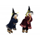 wholesale Decoration: Witch made of poly, flying, 18 cm